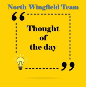 North Wingfield Team Thought of the Day